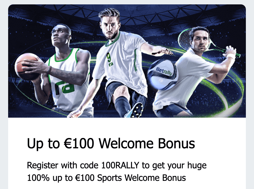 Betrally Bonus Betting 100% up to a 100€